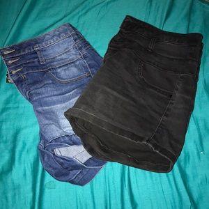 Denim - High-waist shorts bundle 🦋